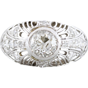 Art Deco Diamond Engagement Ring with Filigree | Valerie