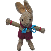 Rare Merrythought dressed rabbit made for clothes shop Archie Brown Bermuda