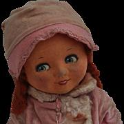 Rare Dean's Rag Book Co. Betty Oxo advertising cloth doll, 1930s