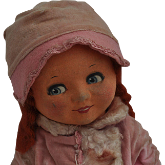 Rare Dean's Rag Book Co. Betty Oxo advertising cloth doll, 1930s