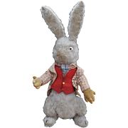 A very rare Dean's Rag Book Co. White Rabbit from Alice in Wonderland, 1920s