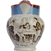 A small 19th century transfer decorated nursery jug 'The Grace',