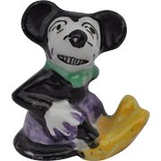 Lovely 1930s Mickey Mouse porcelain cake decoration,