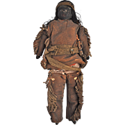 A rare Native American bisque shoulder head doll, circa 1900