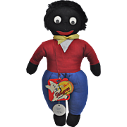 Rare Pedigree Golliwog in exceptional condition with card swing tags, 1950s