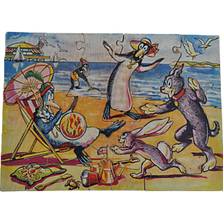 Rare Pip, Squeak and Wilfred jigsaw puzzle 1930s,