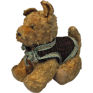 A very sweet 1950s Polish cotton plush toy dog,