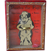 1930s Dexterity puzzle Pootles the Pup by R. Journet London,