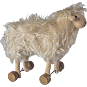 Rare German sheep on wheels 1910-20s,
