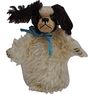 An interesting British Spaniel hand puppet, probably Farnell, 1910-20s,