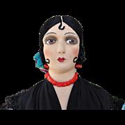 A stunning Lenci-type felt Spanish doll, 1930s