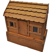 An extremely rare and early German wooden Construction Stable, circa 1840