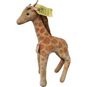 A good example of a post-war velvet Steiff giraffe 6414,00