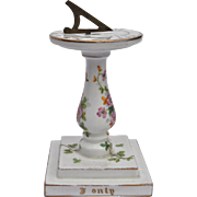 A charming Crown Staffordshire china sundial,