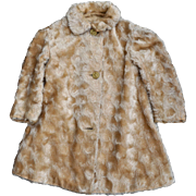 Rare antique mohair child's teddy bear coat with teddy bear buttons, circa 1910