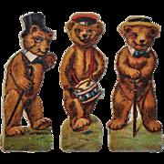 Rare set of teddy bear scraps, circa 1910