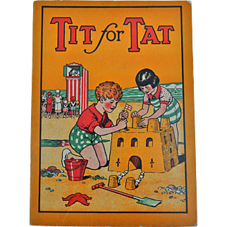 Tit for Tat, a British children's book featuring a seaside holiday and Punch & Judy 1920-30s