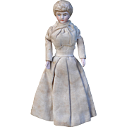 Lovely all original antique bisque dolls' house doll, circa 1910