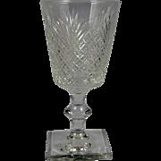 HAWKES Strawberry, Diamond & Fan #7332 Wine Glass
