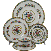 COALPORT MING ROSE 5 Pc Place Setting (Dinner, Salad, B&B, Can Cup, Saucer)