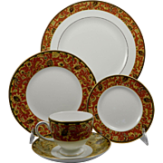 WEDGWOOD PERSIA 5 Pc Place Setting (Dinner, Salad, B&B, Cup & Saucer)