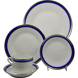 RICHARD GINORI Palermo Blue 5 Pc Place Setting (Dinner, Salad, B&B, Cup & Saucer)
