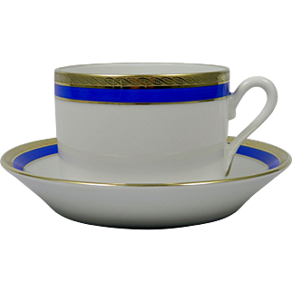 RICHARD GINORI Palermo Blue Cup & Saucer Set