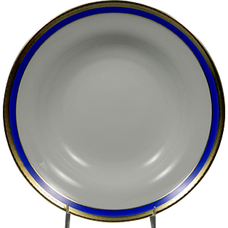 RICHARD GINORI Palermo Blue Rimmed Soup Bowl (Plate)