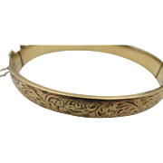 Vintage 9ct Gold Metal Core Bangle Bracelet from England