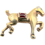 Vintage Crown Trifari Horse Figural Brooch