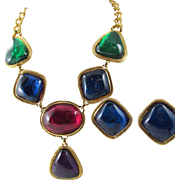Kenneth Jay Lane Capriati Collection Necklace and Earrings