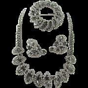 Weiss 1950s Black Diamond Parure
