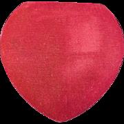 Vintage Deltah Simulated Pearl Necklace in Velvet Heart Original Box