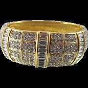 Authentic Swan Swarovski Crystal Cuff Bangle Bracelet