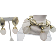 Signed Ben Amun Drop Statement Bracelet and Earring Set