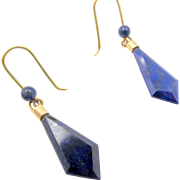 14k Lapis Lazuli Pierced Drop Earrings