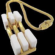 Pierre Cardin Modernist Chicklet Necklace 1970s