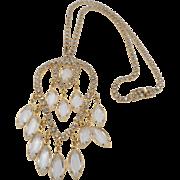 Crystal Navette  Rhinestone Dangling Pendant