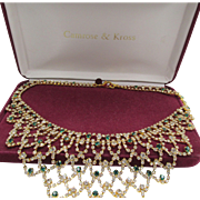JBK Jackie Kennedy Camrose and Kross Reproduction Bib Necklace