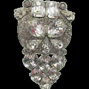 Eisenberg Original Art Deco Style Crystal Rhinestone Dress Clip