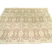 Vintage Cream Filet Lace Square Tablecloth - Red Tag Sale Item