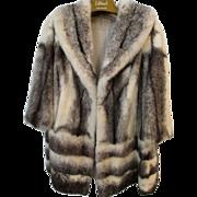 Vintage Cross Mink Fur Jacket B. Altman & Co.