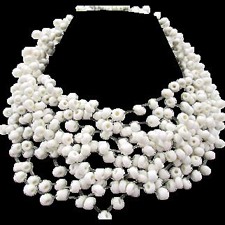 Vintage Signed Langani Designer Beaded Necklace