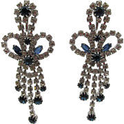 Vintage Chandelier Rhinestone Drop Earrings 3""