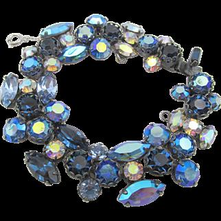 Vintage Signed Regency Blue AB Bracelet