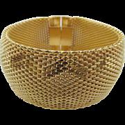 Vintage Napier Gold Tone Mesh Thick Bracelet