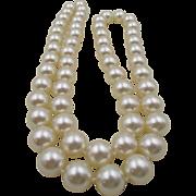 Vintage KJL Kenneth Jay Lane Faux Pearl 35 inch Necklace