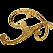 Vintage 18kt Gold Monogram Initial Pin 'P'