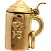 Movable 8k Gold English Tea Kettle Charm