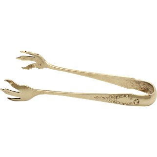 Whiting 1908 'Madam Jumel' Claw Footed Sterling Silver Sugar Tongs